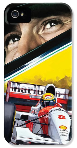 Formula One iPhone 5 Cases - Ayrton Senna Artwork iPhone 5 Case by Sheraz A