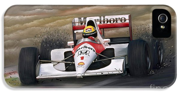 Formula One World Champion iPhone 5 Cases - Ayrton Senna iPhone 5 Case by Linton Hart