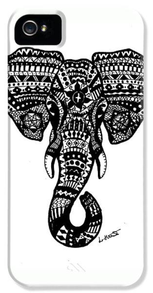 Aztec Elephant Head IPhone 5 / 5s Case by Loren Hill