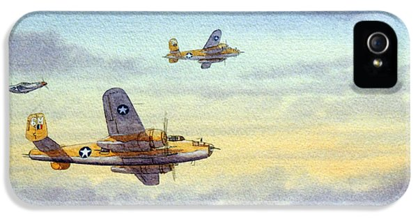 Airplane iPhone 5 Cases - B-25 Mitchell iPhone 5 Case by Bill Holkham