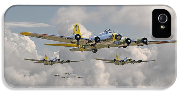 Usaf iPhone 5 Cases - B17 486th Bomb Group iPhone 5 Case by Pat Speirs