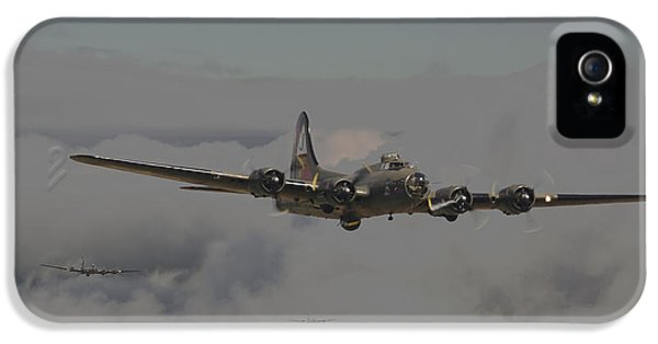Usaf iPhone 5 Cases - B17 Outbound - Heavy Weather iPhone 5 Case by Pat Speirs