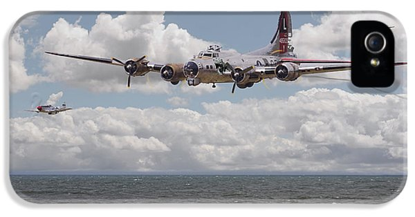 Usaf iPhone 5 Cases - B17 The Hardest Mile iPhone 5 Case by Pat Speirs
