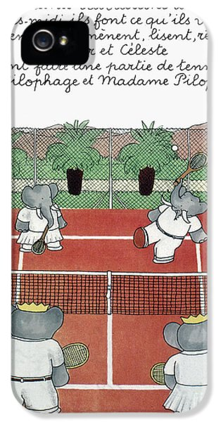 1930s iPhone 5 Cases - BABAR THE ELEPHANT, 1930s iPhone 5 Case by Granger