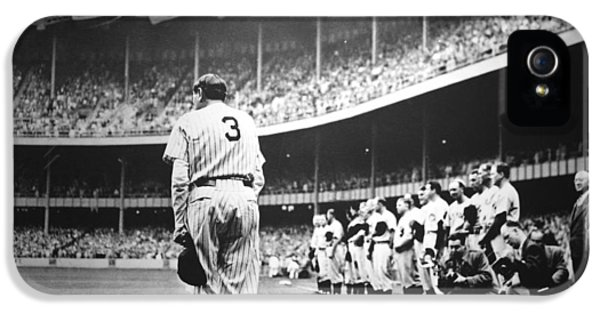 Babe Ruth Poster IPhone 5 / 5s Case by Gianfranco Weiss