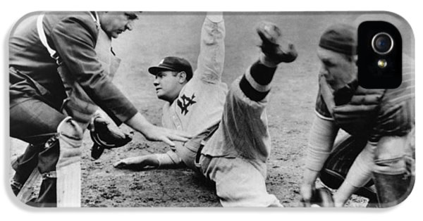 Babe Ruth Slides Home IPhone 5 / 5s Case by Underwood Archives