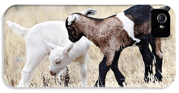 Baby Goats Painting IPhone 5 / 5s Case by Marvin Blaine