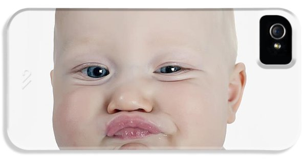 Boys Only iPhone 5 Cases - Baby Making A Funny Face iPhone 5 Case by Stuart Corlett