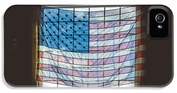 Stars And Strips iPhone 5 Cases - Backlit American Flag iPhone 5 Case by Photographic Arts And Design Studio