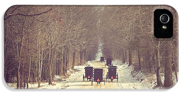 Winter iPhone 5 Cases - Backroad Buggies iPhone 5 Case by Carrie Ann Grippo-Pike