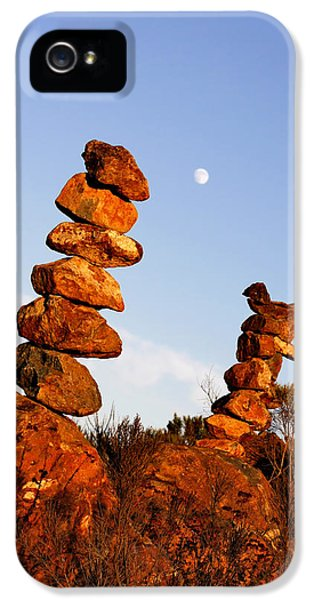 Complexity iPhone 5 Cases - Balanced Rock Piles iPhone 5 Case by Christine Till