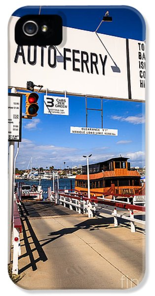 Newport Harbor iPhone 5 Cases - Balboa Island Auto Ferry in Newport Beach California iPhone 5 Case by Paul Velgos