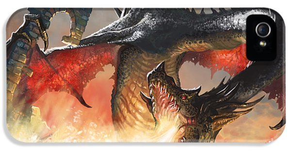Fantasy iPhone 5 Cases - Balerion The Black iPhone 5 Case by Ryan Barger