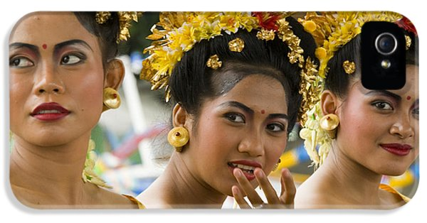 Clothing iPhone 5 Cases - Balinese Dancers iPhone 5 Case by David Smith