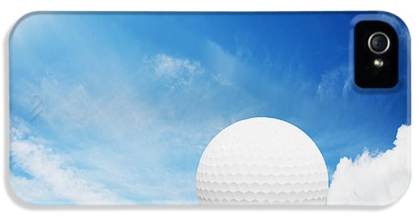 Ball On Tee On Green Golf Field IPhone 5 / 5s Case by Michal Bednarek