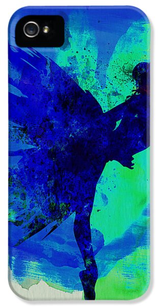 Beautiful Dancer iPhone 5 Cases - Ballerina on Stage Watercolor 2 iPhone 5 Case by Naxart Studio