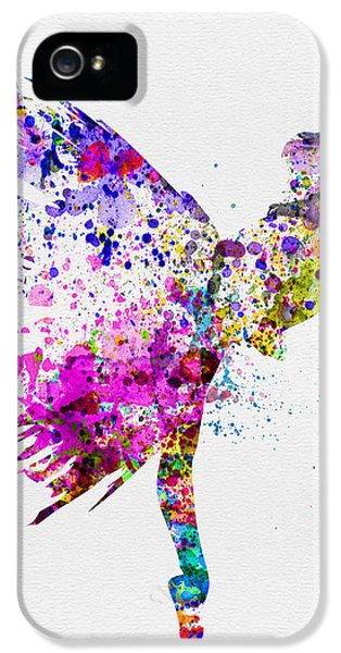 Theater iPhone 5 Cases - Ballerina on Stage Watercolor 3 iPhone 5 Case by Naxart Studio