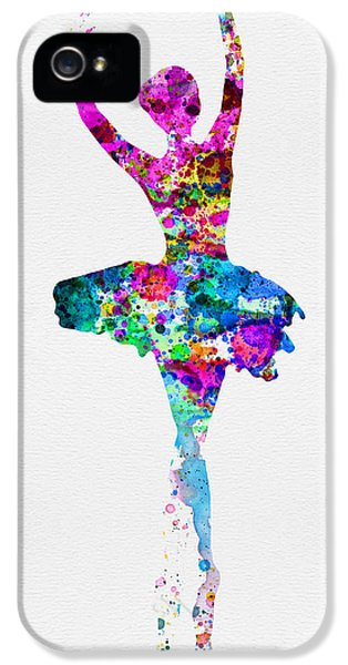 Theater iPhone 5 Cases - Ballerina Watercolor 1 iPhone 5 Case by Naxart Studio
