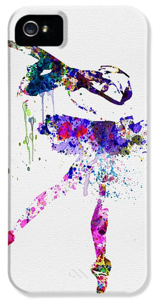 Beautiful Dancer iPhone 5 Cases - Ballerina Watercolor 2 iPhone 5 Case by Naxart Studio