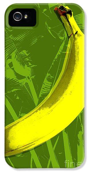 Pop iPhone 5 Cases - Banana pop art iPhone 5 Case by Jean luc Comperat