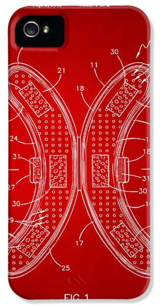 Oddities iPhone 5 Cases - Banana Protection Device Patent Red iPhone 5 Case by Nikki Marie Smith