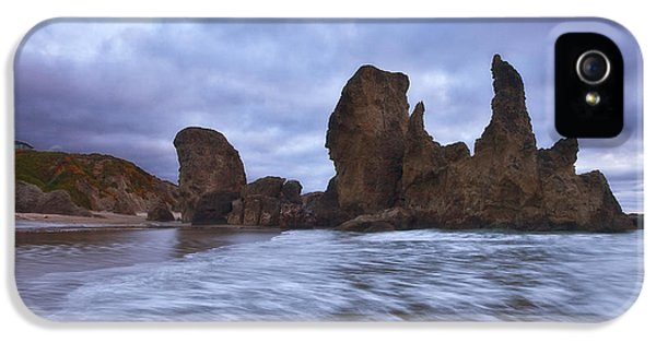Oregon Coast iPhone 5 Cases - Bandon Moon iPhone 5 Case by Darren  White