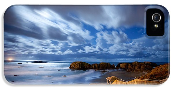 Oregon Coast iPhone 5 Cases - Bandon Nightlife iPhone 5 Case by Darren  White