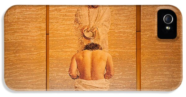 Baptism Of Jesus By Saint John The Baptist - Cathedral Of Our Lady Of The Angels Los Angeles IPhone 5 / 5s Case by Ram Vasudev