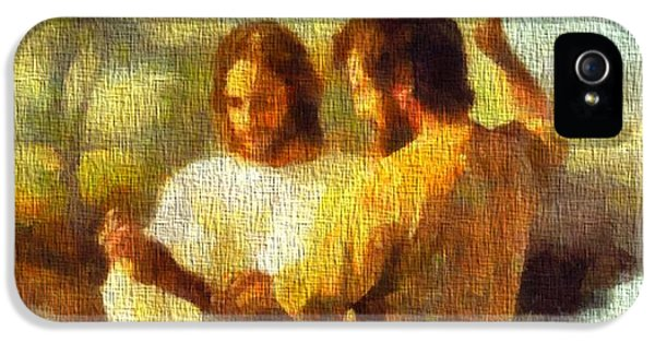 Baptize iPhone 5 Cases - Baptism Of Jesus iPhone 5 Case by Dan Sproul