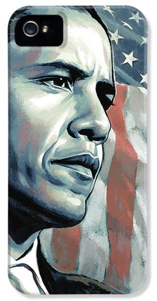 Obama iPhone 5 Cases - Barack Obama Artwork 2 B iPhone 5 Case by Sheraz A