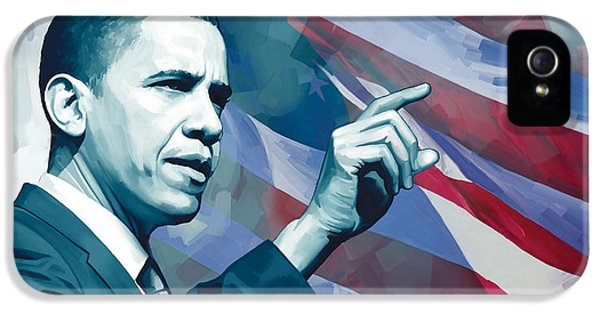 Obama iPhone 5 Cases - Barack Obama Artwork 2 iPhone 5 Case by Sheraz A