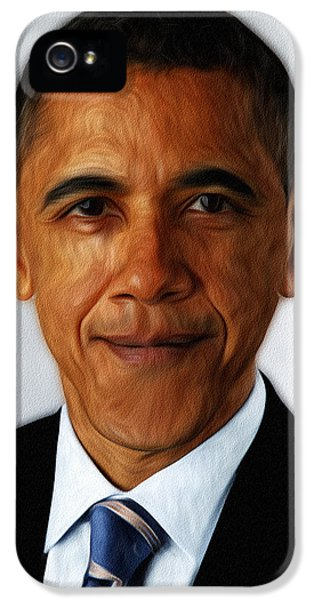 Obama iPhone 5 Cases - Barack Obama iPhone 5 Case by Digital Reproductions