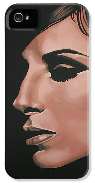 Moviestar iPhone 5 Cases - Barbra Streisand iPhone 5 Case by Paul Meijering