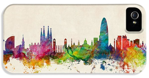 Barcelona Spain Skyline IPhone 5 / 5s Case by Michael Tompsett