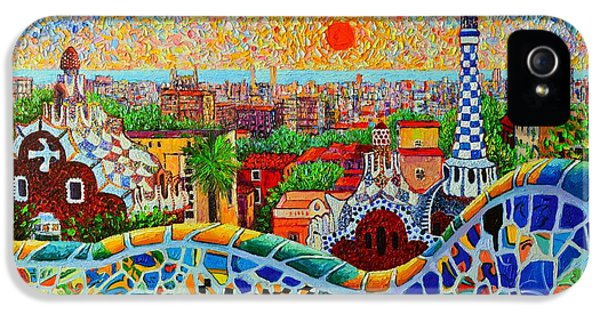 Barcelona View At Sunrise - Park Guell  Of Gaudi IPhone 5 / 5s Case by Ana Maria Edulescu