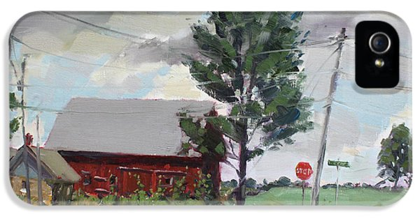 Barn iPhone 5 Cases - Barn by Lockport Rd iPhone 5 Case by Ylli Haruni