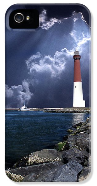 Decor iPhone 5 Cases - Barnegat Inlet Lighthouse Nj iPhone 5 Case by Skip Willits