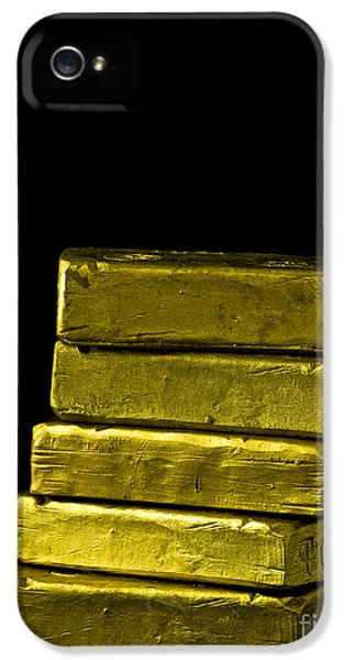 Gold iPhone 5 Cases - Bars of Gold iPhone 5 Case by Edward Fielding
