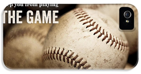 Baseball Art Featuring Babe Ruth Quotation IPhone 5 / 5s Case by Lisa Russo