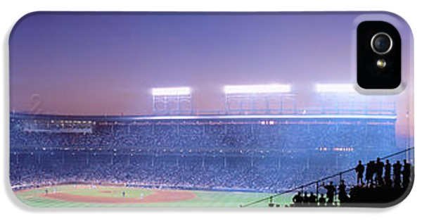 Wrigley Field iPhone 5 Cases - Baseball, Cubs, Chicago, Illinois, Usa iPhone 5 Case by Panoramic Images