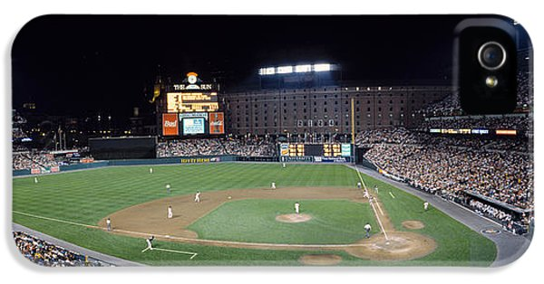 Ballpark iPhone 5 Cases - Baseball Game Camden Yards Baltimore Md iPhone 5 Case by Panoramic Images