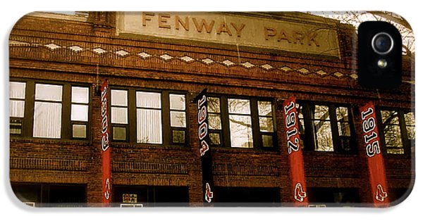 Baseballs Classic  V Bostons Fenway Park IPhone 5 / 5s Case by Iconic Images Art Gallery David Pucciarelli