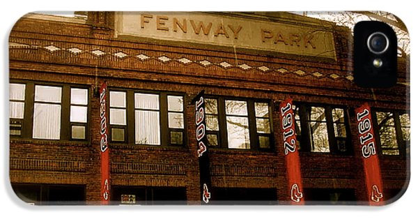 Cover iPhone 5 Cases - Baseballs Classic  V Bostons Fenway Park iPhone 5 Case by Iconic Images Art Gallery David Pucciarelli