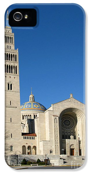 District Columbia iPhone 5 Cases - Basilica in Washington DC iPhone 5 Case by Olivier Le Queinec