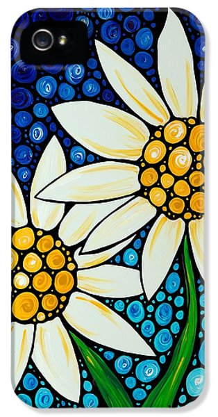 Bathing Beauties - Daisy Art By Sharon Cummings IPhone 5 / 5s Case by Sharon Cummings