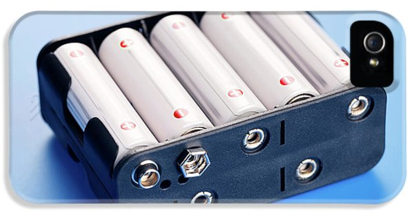Batteries In Battery Charger IPhone 5 / 5s Case by Wladimir Bulgar