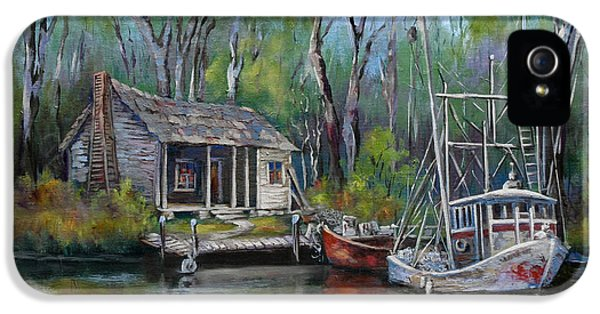 Bayou iPhone 5 Cases - Bayou Shrimper iPhone 5 Case by Dianne Parks