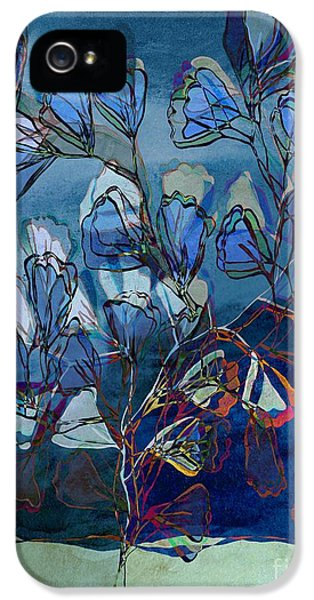 Blue Leaf iPhone 5 Cases - Be-Leaf - 04bt111 iPhone 5 Case by Variance Collections