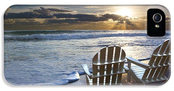 Beach Chairs IPhone 5 / 5s Case by Debra and Dave Vanderlaan