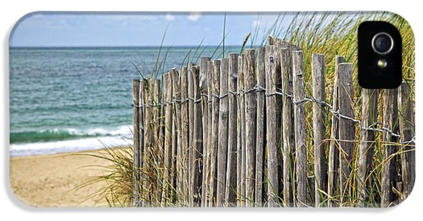 Summertime iPhone 5 Cases - Beach fence iPhone 5 Case by Elena Elisseeva